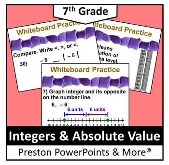 Grade 6 Math Integers Absolute Value Worksheets & Teaching Resources