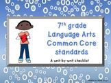 7th grade Language Arts Common Core Checklist