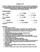 7th grade Language Arts Vocabulary List and Quiz