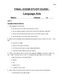 7th grade Language Arts final exam study guide