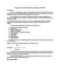 7th Grade Louisiana Social Studies Timeline Project 1763-1