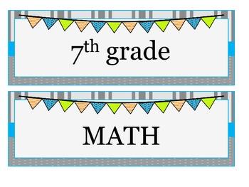 7th grade MATH Common Core I CAN statements