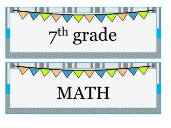7th grade MATH Common Core I CAN statements