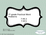 7th grade Math Practical Word Problems 7.NS.3 7.RP.3