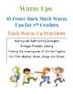 7th grade Math Warm-ups: Integers, Similar Figures, Dot Plots