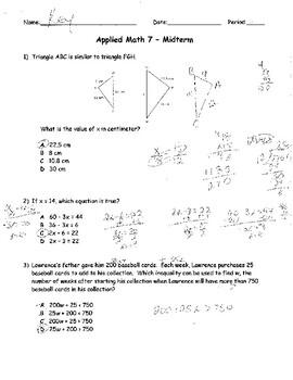 7th grade Midterm Assessment