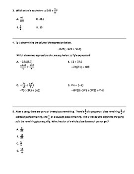 7th grade Math PSSA (PA Core) - The Number System