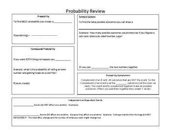 7th grade Probability Review