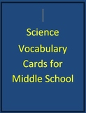 7th grade Science Vocbulary Cards with Pictures