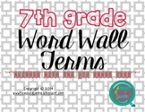 7th grade Science Word Wall Terms