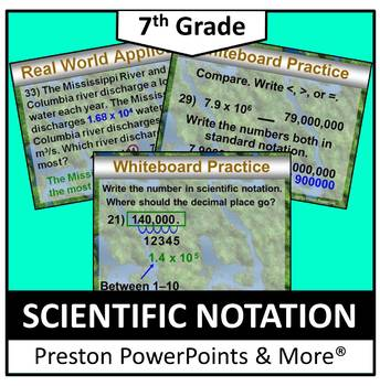 (7th) Scientific Notation in a PowerPoint Presentation