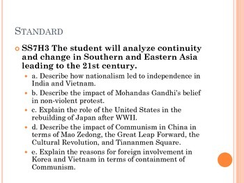 7th grade Social Studies Asia History