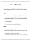 7th grade Social Studies Journal  (aligned to GPS)