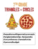 7th grade Triangles and Circles Unit