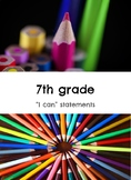 "7th grade: Visual Art- ""I Can"" Statements"