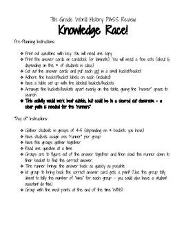 7th grade World History Knowledge Race!