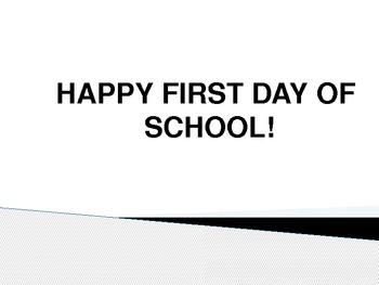 7th grade generic first day of school ppt