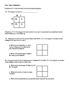 7th grade genetics and heredity unit test - at and above level