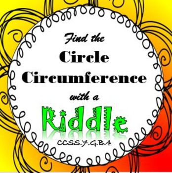 Finding Circumference of a Circle RIDDLE Puzzle Activity It's Fun!