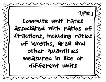 7th grade math - Common Core Standards (black and white)