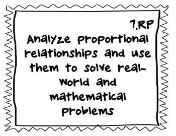 7th grade math - Common Core Standards (black and white)