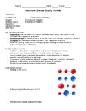 7th grade math Number Sense Study Guide and Practice
