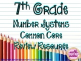 7th grade math Number Systems ~ Multiple Choice, Short & E