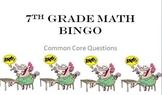 7th grade math common core review BINGO