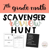 7th grade math review activity: Scavenger Hunt