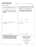 7th grade unit 3 common core pre and post tests