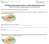 Common Core 7th or 8th Grade BUNDLE: Algebraic Expressions (mini-unit)