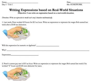 Common Core 7th or 8th Grade BUNDLE: Algebraic Expressions (mini-unit)