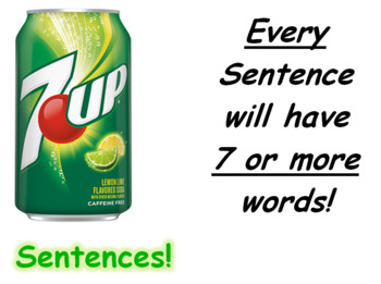 7up Sentence Writing Activity