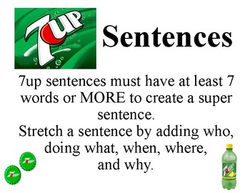 7up sentence stretcher mini poster