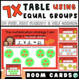 7x Multiplication Fact Fluency Practice: Equal Groups Stra