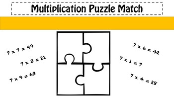 7x Table Puzzle Match