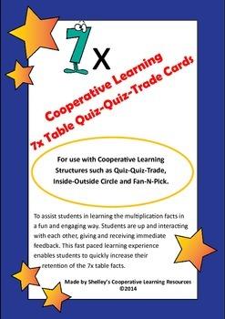 Quiz Quiz Trade 7x Times Table Cards