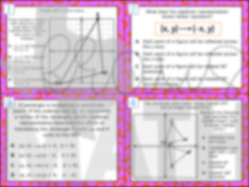 8.10C: Translations, Reflections & Rotations STAAR Test Prep Task Cards