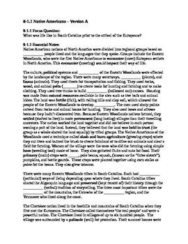 South Carolina History - Partner Read - 8-1.1