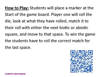 8.11b, 6.12e Biotic and Abiotic Factors Game
