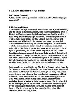 South Carolina History - Partner Read - 8-1.2