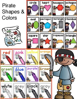 8 - 2-D Pirate Shape and Color Posters