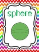 8   3-D Shapes Posters/Anchor Charts for your Classroom. Preschool-5th Grade.