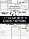 8 3rd Grade Back to School Activities (with leveled option