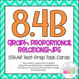 8.4B: Interpreting Unit Rates STAAR EOC Test-Prep Task Cards (GRADE 8)