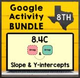 TEKS 8.4C ✩ Slope & Y-Intercept ✩ Google Slides Activity BUNDLE