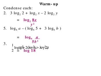 8-5 Natural logarithms