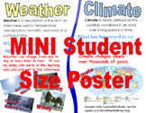 8.5 X 11 Small Weather and Climate Poster