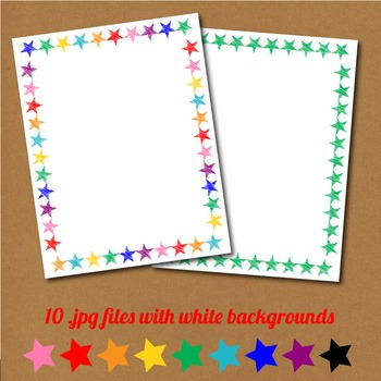 """8.5""""x11"""" page borders with scribble star design"""