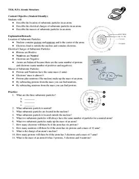 8.5A Subatomic Particles Practice